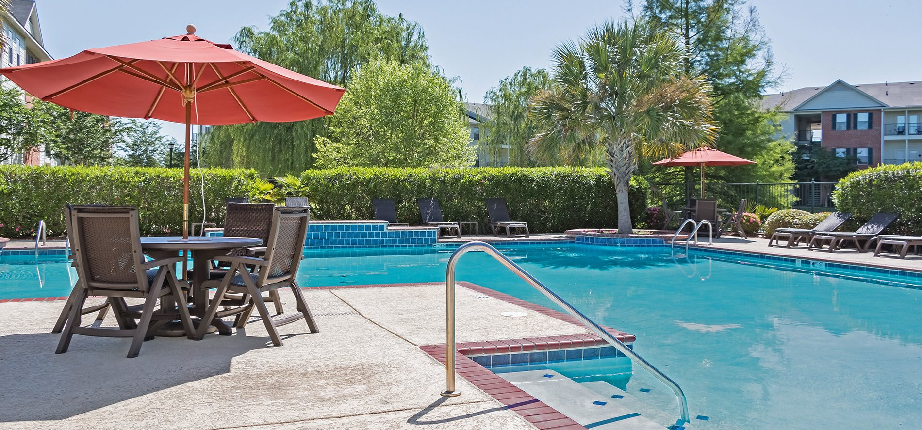 Pool Area at Ultris Island Park Apartments in Shreveport, Louisiana, LA