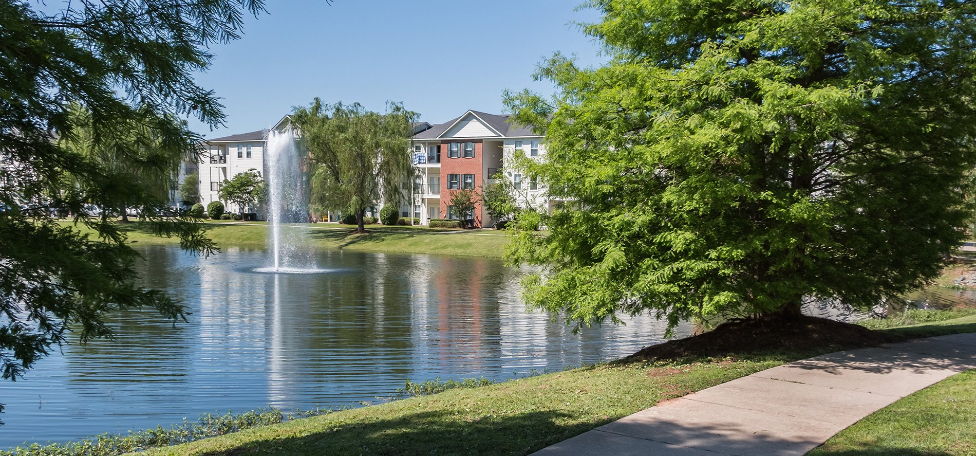 Walking Path Around the Lake at Ultris Island Park Apartments in Shreveport, Lousiana, LA
