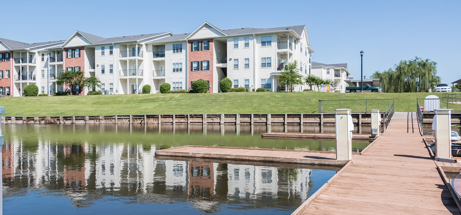 Dock View at Ultris Island Park Apartments in Shreveport, Lousiana, LA