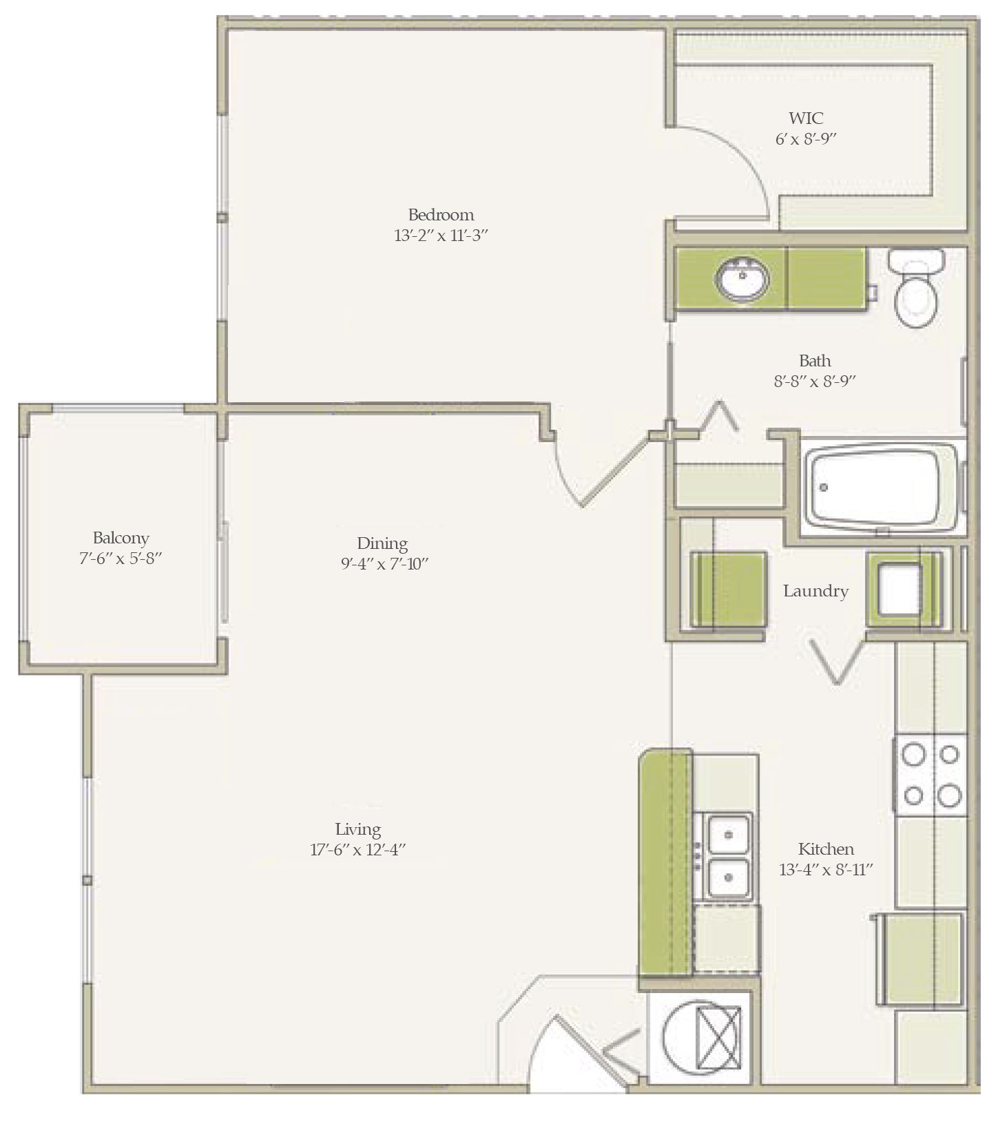 The Cypress (unfurnished) Floorplan at Ultris Oakleaf Plantation
