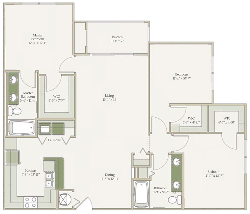 The Royal Palm (unfurnished) Floorplan at Ultris Oakleaf Plantation