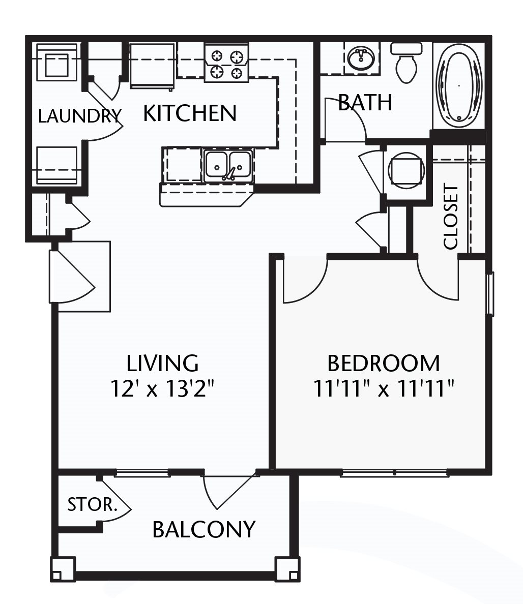 The Cumberland (corporate/furnished) Floorplan at Ultris Patriot Park