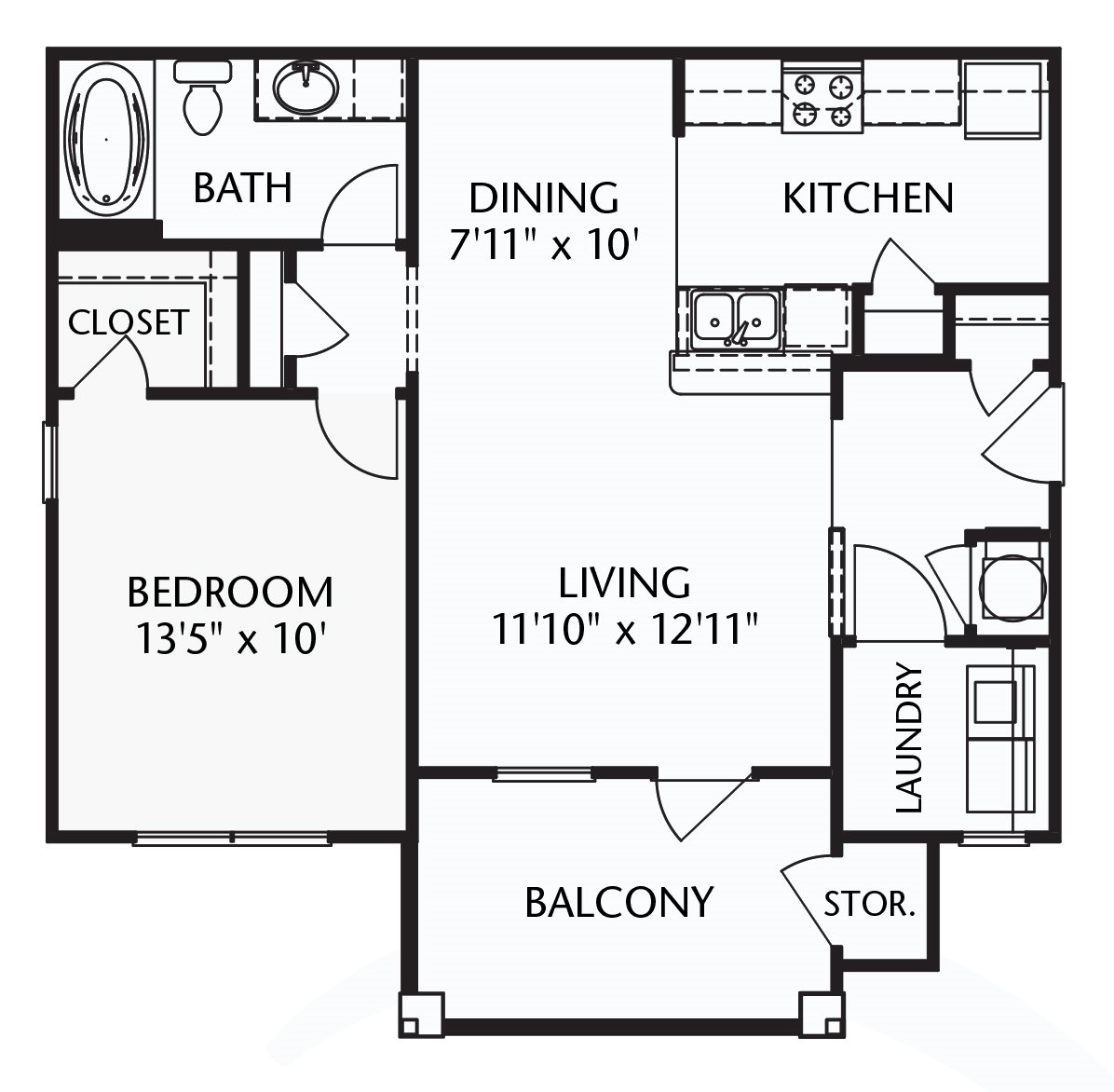 The Legion (corporate/furnished) Floorplan at Ultris Patriot Park