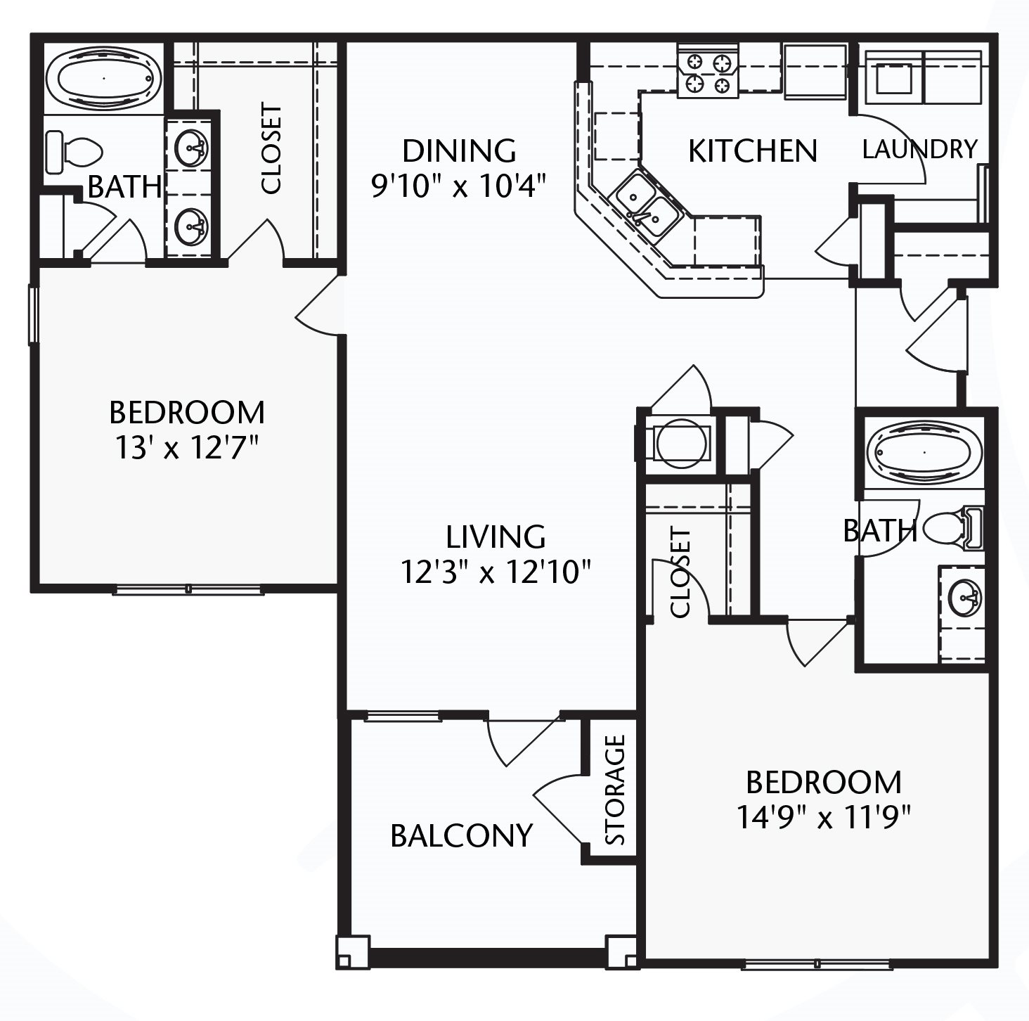 The Heritage (corporate/furnished) Floorplan at Ultris Patriot Park