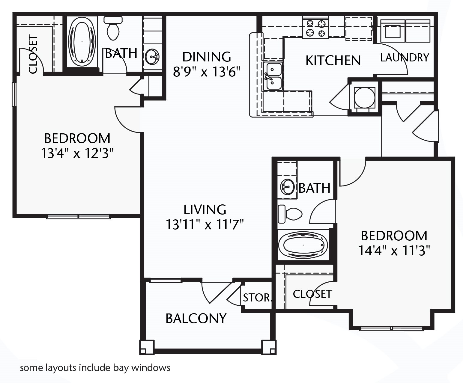 The Sandford (furnished) Floorplan at Ultris Patriot Park