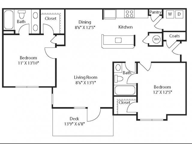 Floor Plans of The Waterford in Morrisville, NC