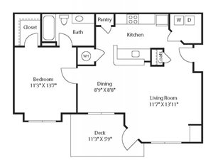(A2) One Bedroom/One Bathroom