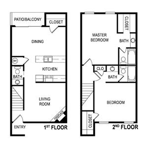 Floor Plan Dat Laurel Parc Apartments in Shreveport, Louisiana, LA