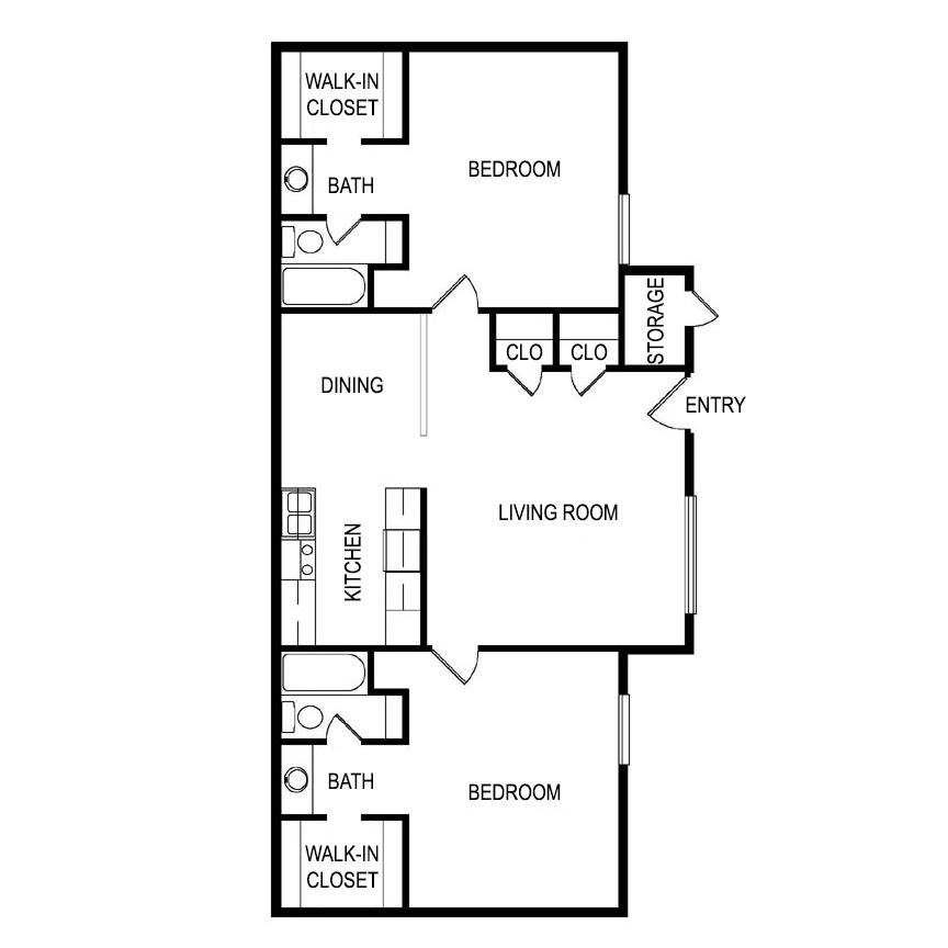 Floor Plan Fat Laurel Parc Apartments in Shreveport, Louisiana, LA