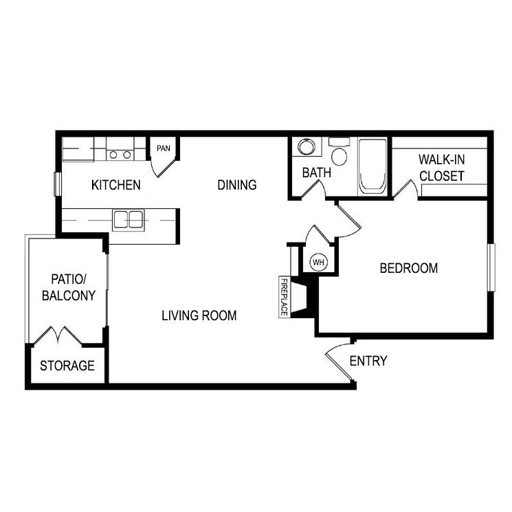Floor Plan Tat Laurel Parc Apartments in Shreveport, Louisiana, LA