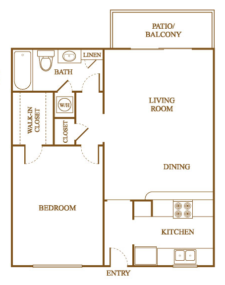 Delightful A8 Floor Plan At Orleans Square Apartments In Shreveport, Louisiana, LA