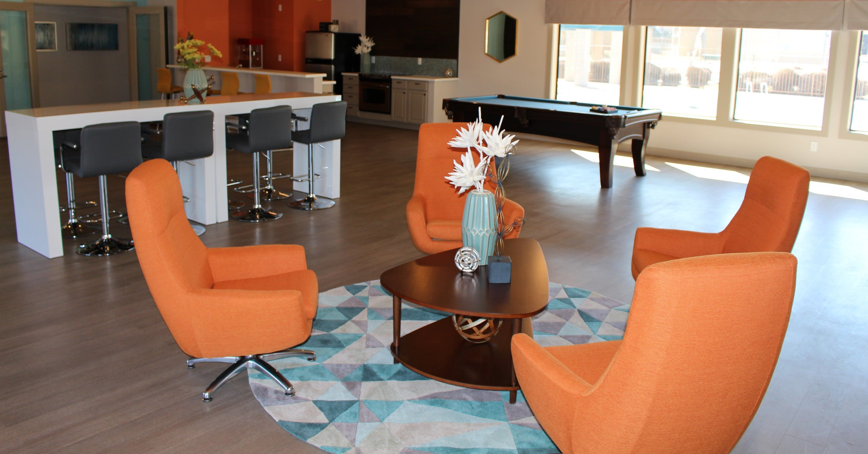 Clubhouse Lounge, at Village at Iron Blossom Apartment Homes, Nevada, 89511