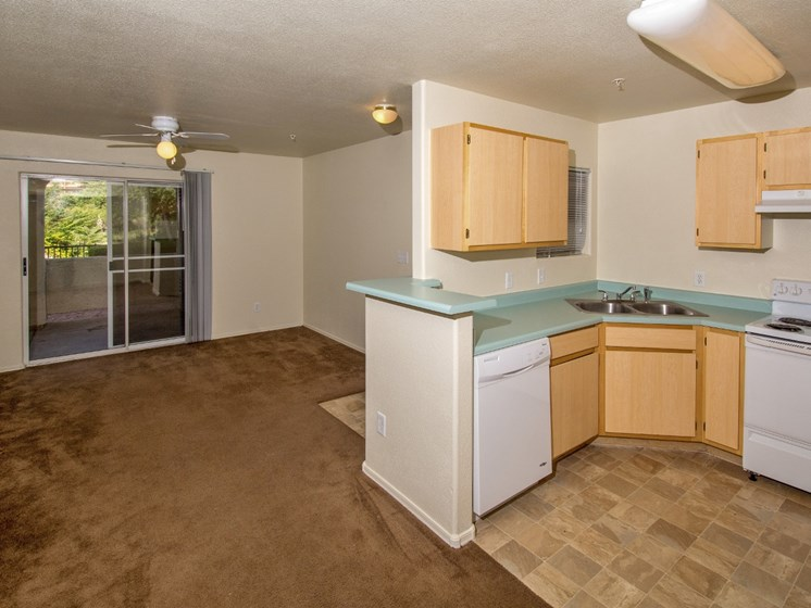 Fully equipped kitchen at Sagewood Apartments, Cottonwood, AZ,86326