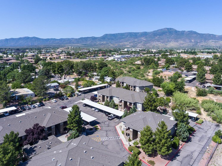 Aerial View of Sagewood Apartments in Cottonwood, AZ