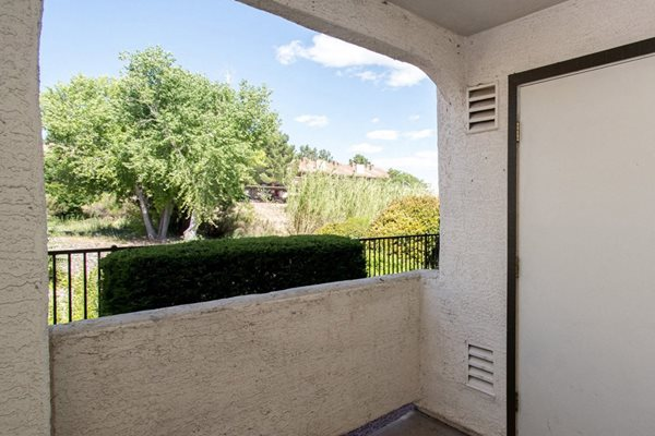 bedroom balcony at Sagewood Apartments, Cottonwood, AZ,86326