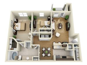 B1 : Two Bedrooms One Bathroom
