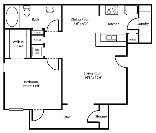 Adobe Lily Floor Plan 1