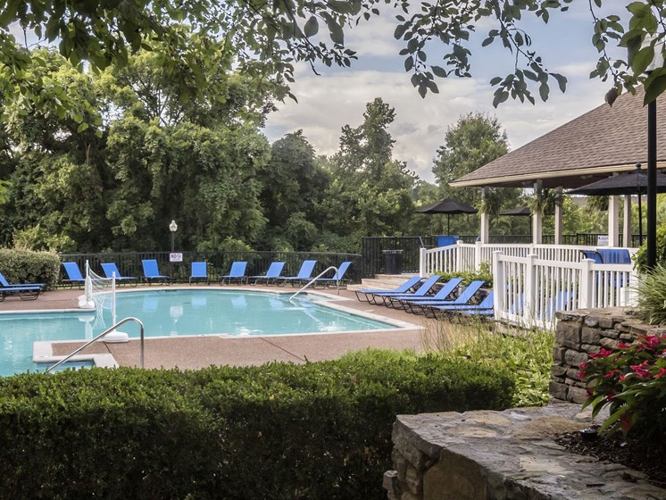 Swimming Pool at The Players Club Apartments in Nashville, Tennessee, TN