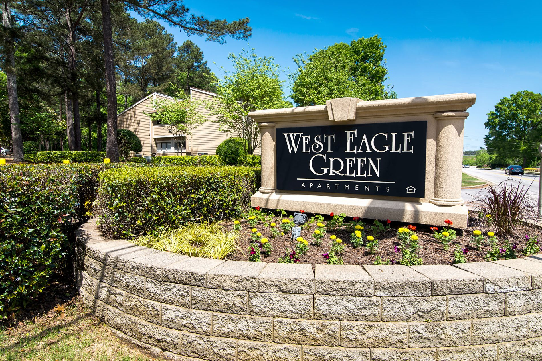 Front Signage at West Eagle Green Apartments in Augusta, Georgia, GA