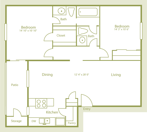 Plan B2 Floor Plan 6