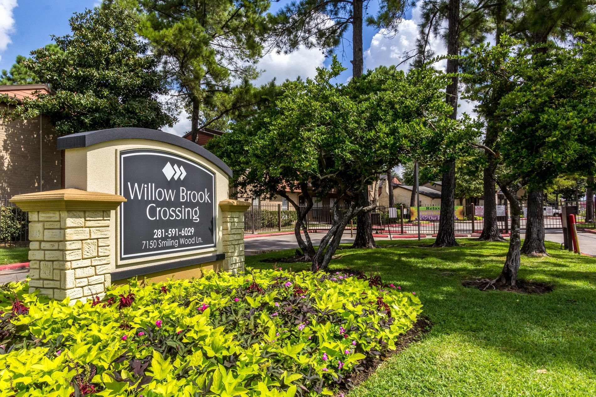 Property Signage at Willow Brook Crossing Apartment Homes in Houston, Texas, TX