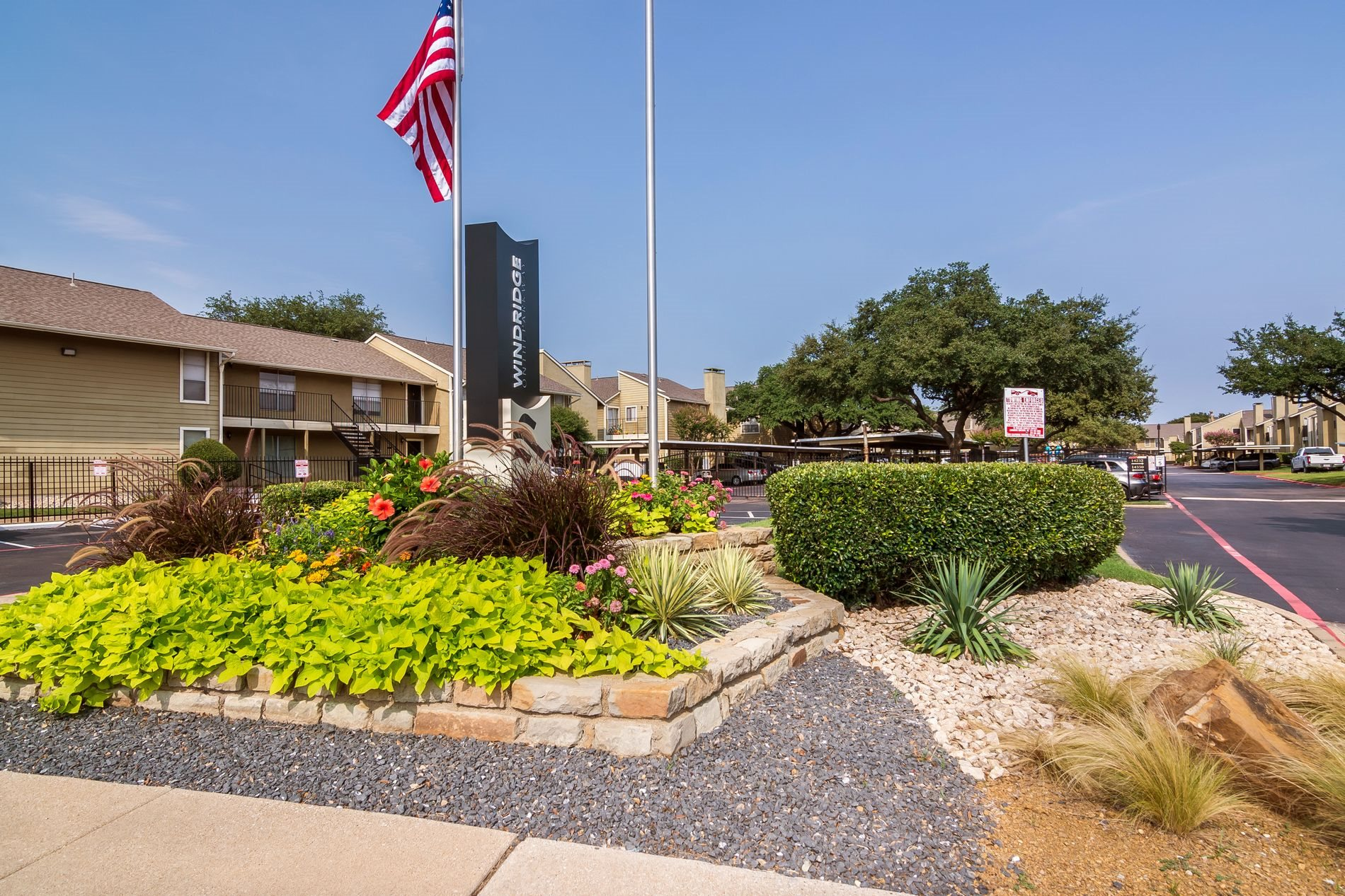 Front Entry at Windridge Apartments in Dallas, Texas, TX