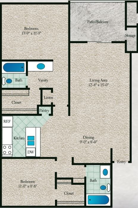 Pine Wood Floor Plan 7