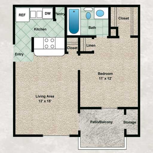 The Willow Floor Plan 1
