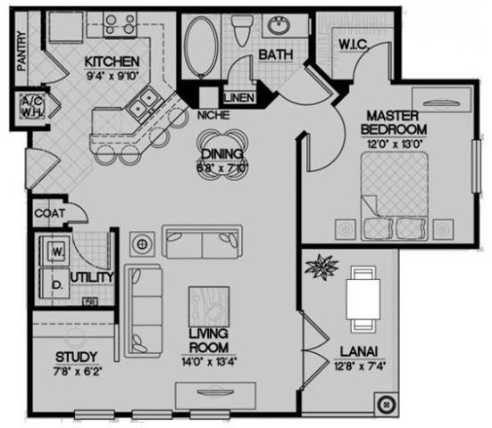 The Hatteras Floor Plan 3