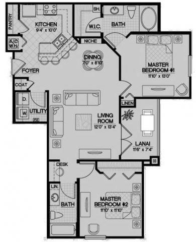 The Tidewater Floor Plan 5