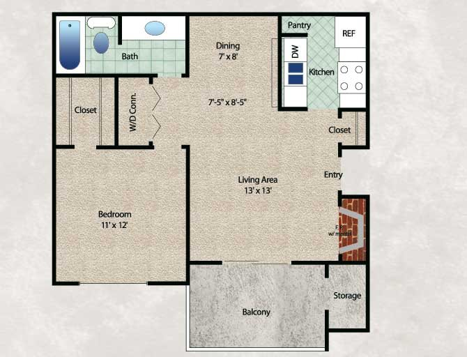 The Woodland Floor Plan 1