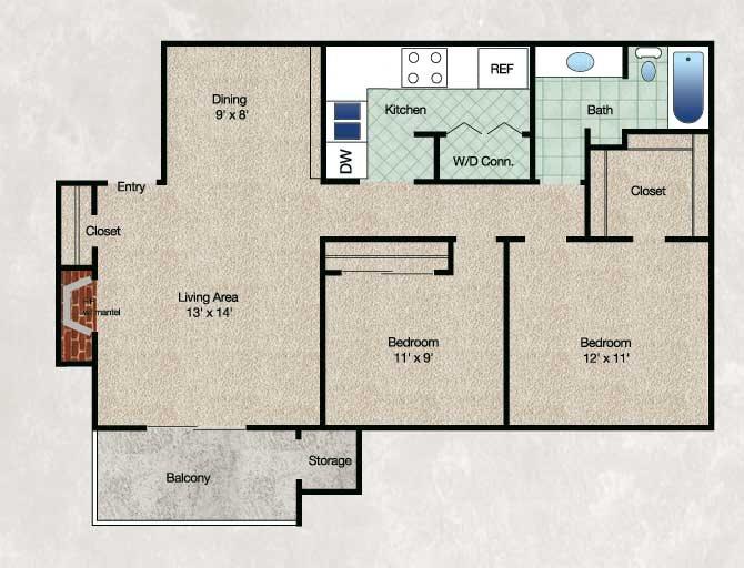 The Meadow Floor Plan 3