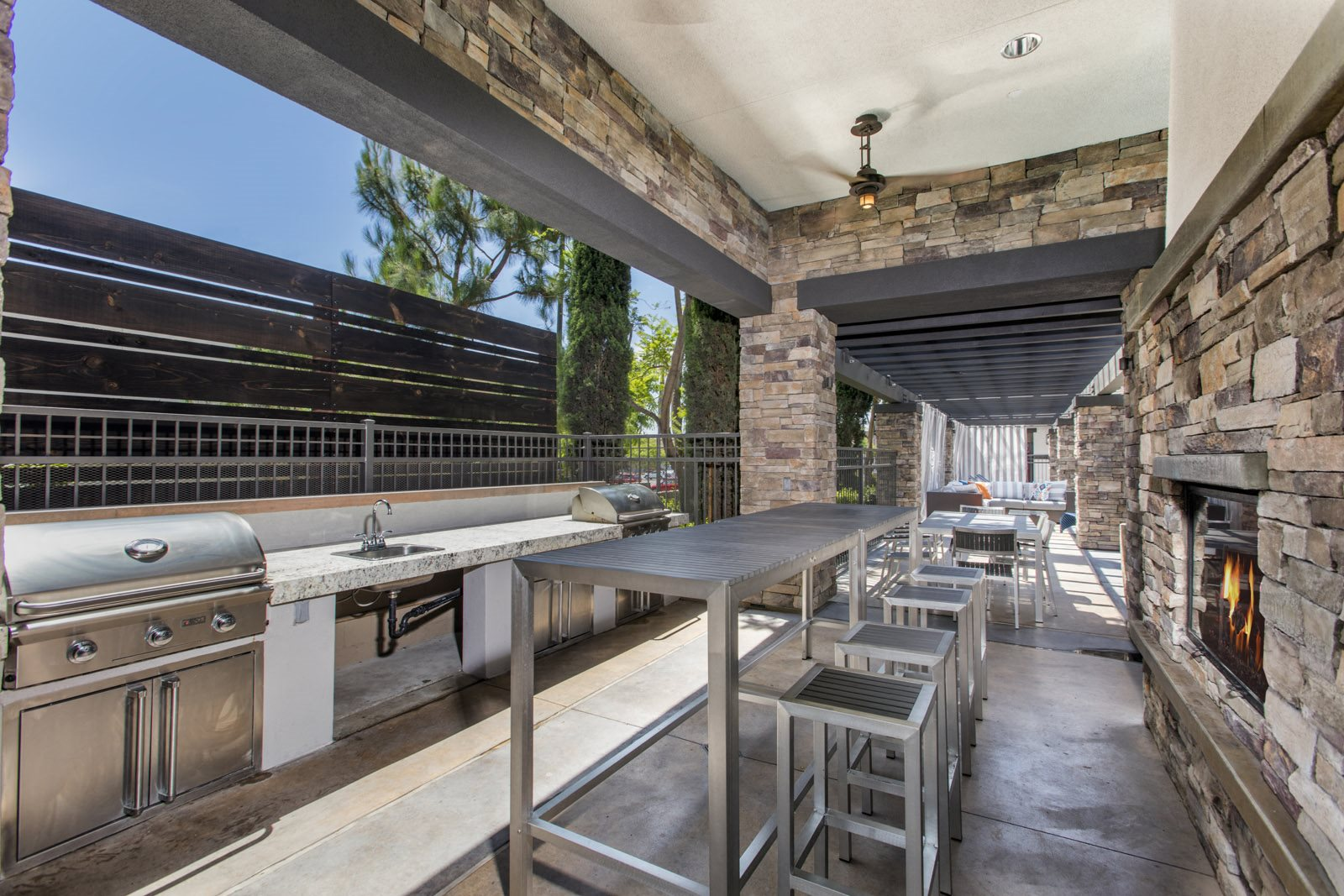 Pet-Friendly Apartments in Ontario-The Grove Apartments BBQ Area