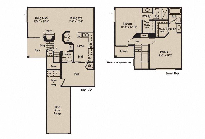 Plan D1 Floor Plan 3