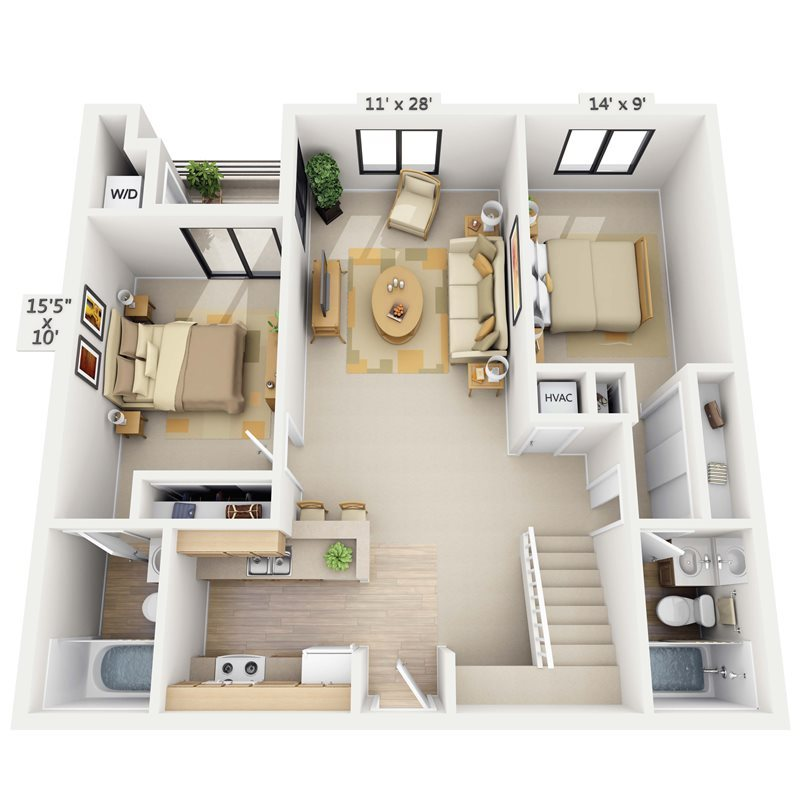 Shoreline Loft Floor Plan 5