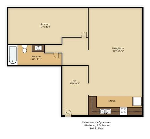 Apartments In Inglewood California: Floor Plans Of Universe At The Sycamores Apartments In