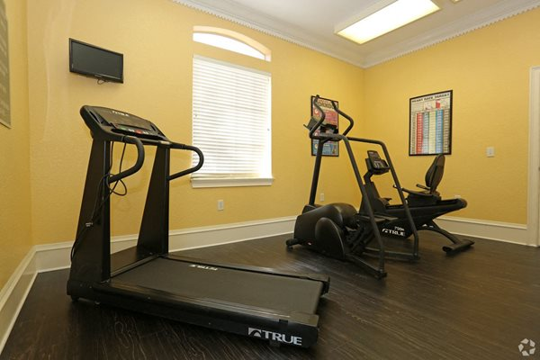 fitness center at weston oaks apartments in holiday fl