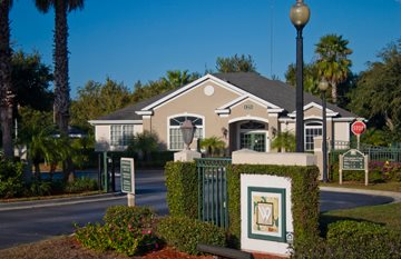 Gated Entrance at Weston Oaks, Holiday, Florida