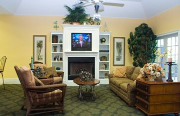 Clubhouse with Fireplace at Weston Oaks, Florida