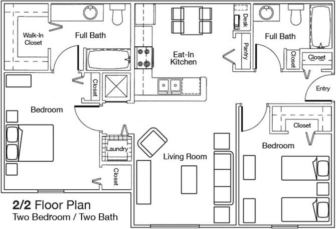 Floor plan at Weston Oaks, Holiday, FL