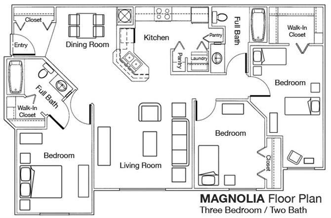 3x2 Floor Plan 3
