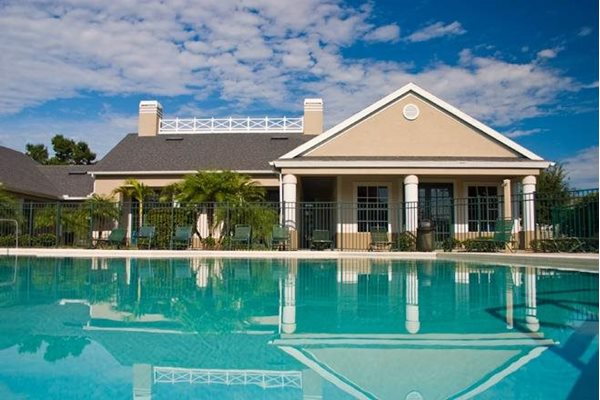 resort style pool at westwood apartments in Fort Meyers