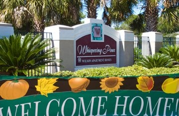 Welcome Sign at Whispering Pines, St Augustine, Florida