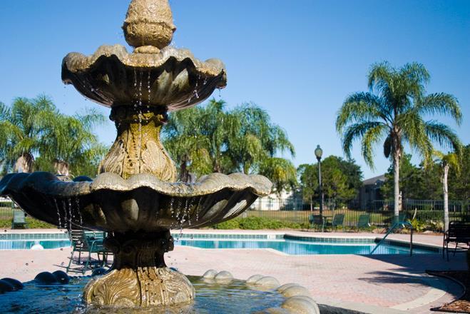 Beautiful Fountain at Whispering Pines, Florida