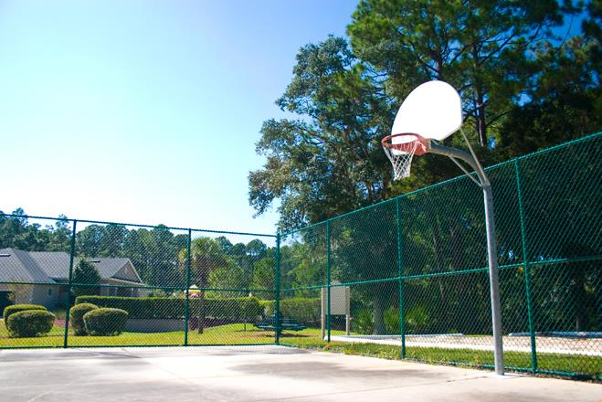 Outdoor Basketball Court at Whispering Woods, St Augustine, FL, 32084