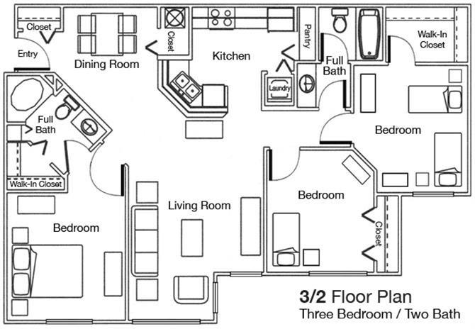 Floor plan at Woodbridge, Plant City