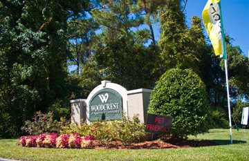 Monument Sign at Woodcrest, Florida