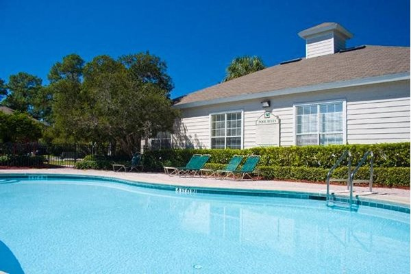 holiday resort style swimming pool at woodcrest apts in st augustine florida