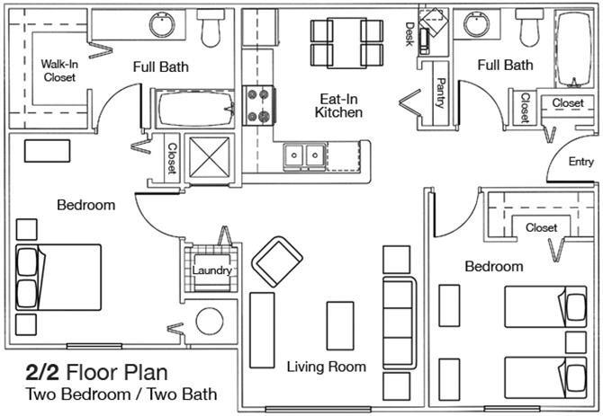 2x2 Floor Plan 2