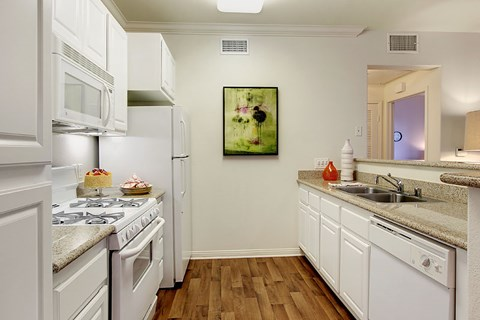Pet-Friendly Apartments in Rancho Cucamonga CA - Barrington Place Apartments Kitchen
